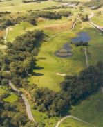 Aerial view of the par 5 6th