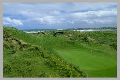 Enniscrone Golf Club - the first green